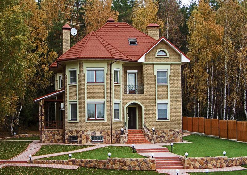 Дизайн крыш домов цвета